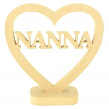 18mm MDF Small Nanna Heart on a stand