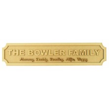 Laser cut Freestanding Personalised Family Surname and Names 3D Street Signs - 3mm/18mm - Curved Corners - 600mm Width