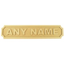 Laser cut Freestanding Personalised 3D Street Signs - 3mm/18mm - Curved Corners - 600mm Width