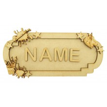 Laser Cut Personalised 3D Fancy Street Sign - Craft/Painting Themed - Size Options