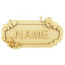Laser Cut Personalised 3D Fancy Street Sign - Fairy Themed - Size Options
