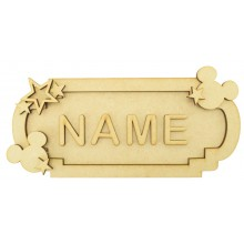 Laser Cut Personalised 3D Fancy Street Sign - Boy Mouse Themed - Size Options