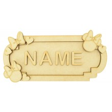 Laser Cut Personalised 3D Fancy Street Sign - Girl Mouse Themed - Size Options