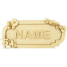 Laser Cut Personalised 3D Fancy Street Sign - Remembrance Themed - Size Options