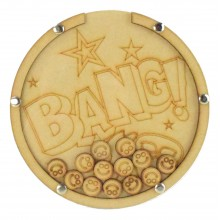 Laser Cut Superhero Comic Book 'Bang!' Word Childrens Budget Reward Chart Drop Box - Smiley Face Tokens