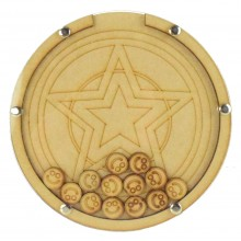 Laser Cut Hand Drawn Superhero Star Logo Childrens Budget Reward Chart Drop Box - Smiley Face Tokens