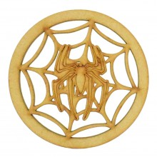 Laser Cut Mini Dream Catcher Frame with a Superhero Spider Web Shape Inside