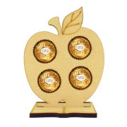 6mm Apple Ferrero Rocher Holder on a Book Shape Stand