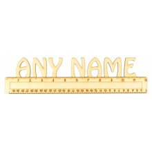 Laser Cut Personalised Detailed Ruler with Name on Top