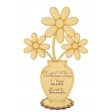 Laser Cut 'Thank You' Teacher Flower Pot on a Stand