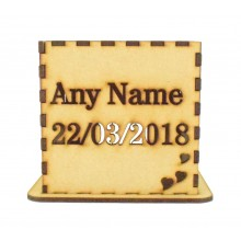 Laser cut Personalised Tea Light Box - 3 Different Personalised Panels Design