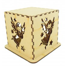 Laser cut Tea Light Box - Christmas Angel Design