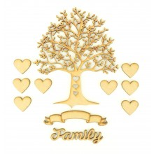 Laser Cut Bargain Box Frame Tree Kit - Set 7