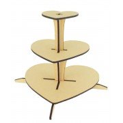 Laser Cut 3 Tier Cake Stand - 6mm - Options