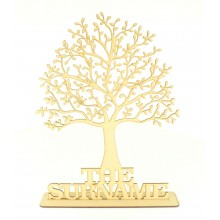 Laser Cut Personalised Family Tree with Surname