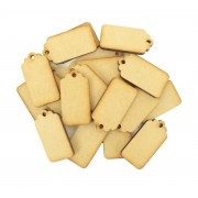 Laser Cut Blank Traditional Gift Tag Shape with Hole - BULK BUY PACK OF APPROX 20