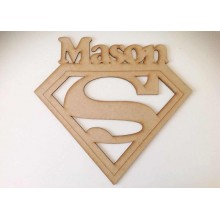 Laser Cut Personalised Superman Logo