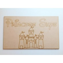 Laser Cut Personalised Princess Chair Panel