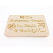 18mm Router Cut MDF 'Christmas Treats for Santa & Rudolph' Christmas Eve Board with Laser Panel