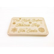 18mm Router Cut MDF 'Our Night Before Christmas Tray For Santa' Christmas Eve Board with Laser Panel