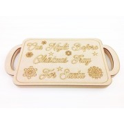 18mm Router Cut MDF 'Our Night Before Christmas Tray For Santa' Christmas Eve Tray with Laser Panel