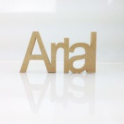 Freestanding MDF Personalised Joined Word (Arial - 100)