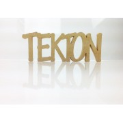 Freestanding MDF Personalised Joined Word (TEKTON - 100-CAPS)