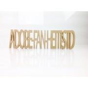 Freestanding MDF Personalised Joined Word (ADOBE-FAN-HETTI-STD - 100-CAPS)
