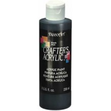 DecoArt Black Crafters Acrylic Paint 8oz