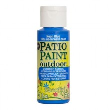 DecoArt Patio Paint - Neon Blue 2oz