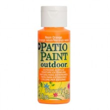 DecoArt Patio Paint - Neon Orange 2oz