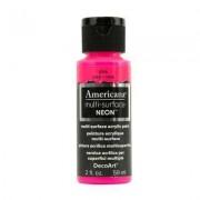 DecoArt Americana Multi-Surface Neon craft paint.