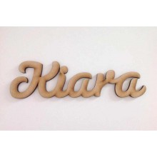 Laser Cut Personalised Script Font Name - 6mm