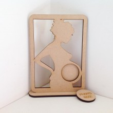 Laser Cut Baby Scan Photo Frame - Design 3 - 6mm