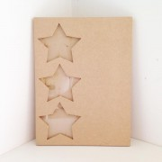 Freestanding MDF Plaque with Star Photo Frames