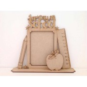 Laser cut 1st Day at School or Nursery Photo Frame on a stand