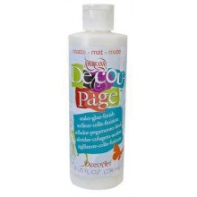 Americana Decou-Page 8oz Matte Sealer, Glue and Finish - 3 products in one