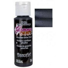 Black Ice Glamour Dust Ultra Fine Glitter Paint 2oz.
