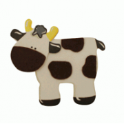 Crafty Common Creatures - Cow - Painted wooden Animals with felt detail.