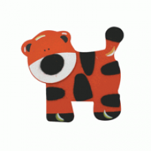 Crafty Common Creatures - Stripey Tiger - Painted wooden Animals with felt detail.