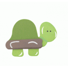 Crafty Common Creatures - Turtle/Tortoise - Painted wooden Animals with felt detail.