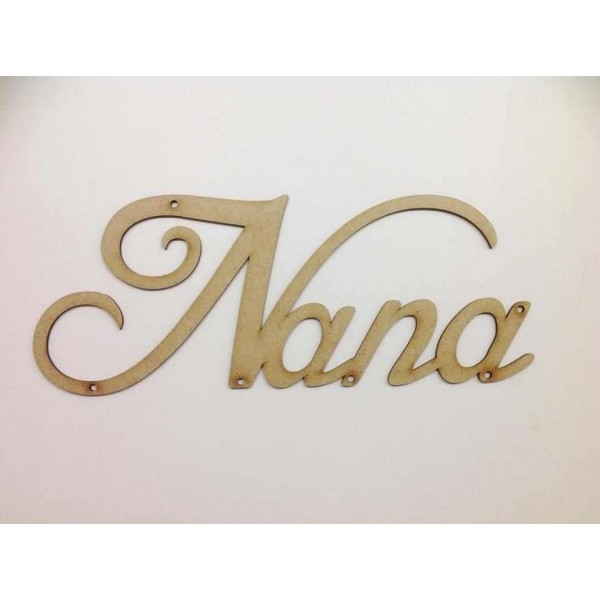 Laser Cut Script Font Nana Word With Holes Any Family