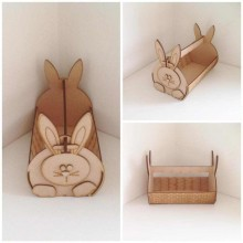 Laser Cut 3D Easter Bunny Basket