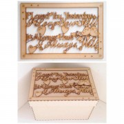 Laser Cut 'I loved you yesterday, I love you still, I always have, I always will' - Large Box Frame Top