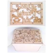 Laser Cut 'Baby Memory Box' - Large Box Frame Top
