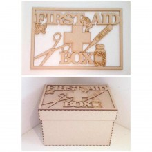 Laser Cut 'First Aid Box' - Large Box Frame Top