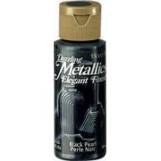 Black Pearl DecoArt Metallic Paint 2oz
